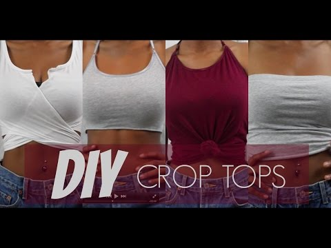 DIY CROP TOPS OUT OF TANK TOPS (4 Styles) | Jeanae Melisa