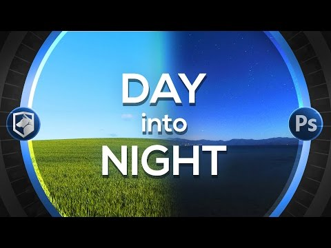Make Photo from Day into Night | Photoshop CC Tutorial