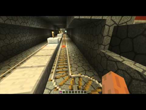 Minecraft: Fully Automated Minecart Subway System