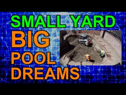 Excavation Time Lapse Video of Pool Dig Ep 6 Small Yard Big Pool Dreams