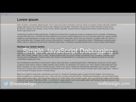How to Debug JavaScript