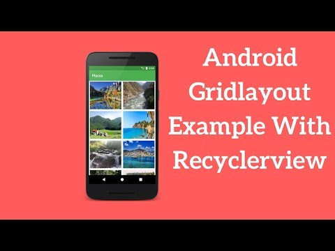 Android Gridlayout Example With Recyclerview (Demo)