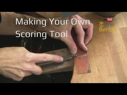 Making A Scoring Tool Out Of An Old File - Making Jewellery Tools