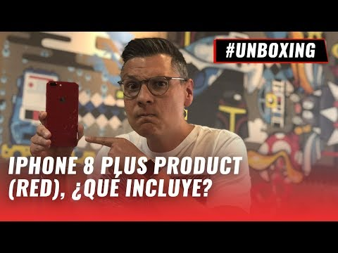 iPhone 8 Plus Product (RED), unboxing en español