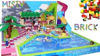 Lego Friends House Toboggan Pool Part 2 By Misty Brick