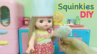 DIY Squishy Little Squinkies Food and Realistic Canned Pie Filling !
