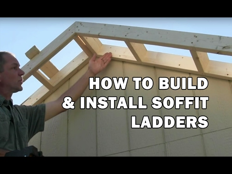 How to Build a Shed - How To Build Roof Rake Ladders (soffit overhang) - Video 9 of 15