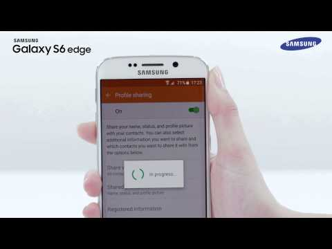 Samsung Galaxy S6 edge | How To: use the Profile sharing and Simple sharing feature