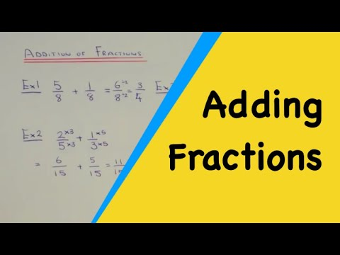Adding Fractions. The Best Method For Adding Together 2 Fractions With Different Denominators.