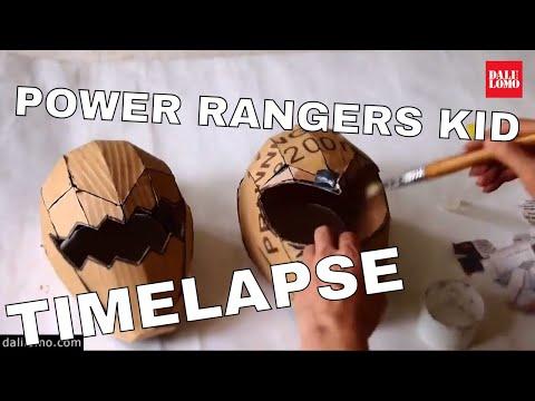 Timelapse - Make Power Rangers Helmet (2014 DIY Cosplay)