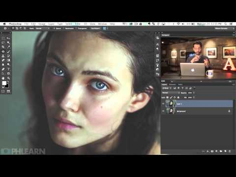 How to Remove Bags and Blemishes using the Patch Tool in Photoshop