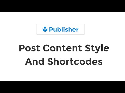 Format Post Content Style - WYSIWYG TinyMCE