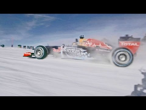 Formula 1 Race Car in the Snow for Fun