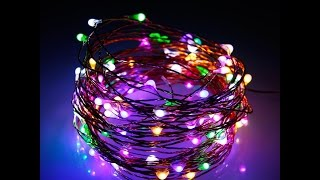 Albrillo LED Christmas Lights Multicolor 100 LEDs 33ft With Power Plug