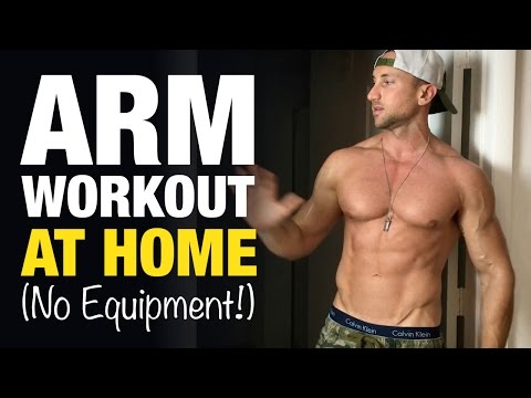 Arm Workout At Home For Bigger Biceps & Triceps (NO EQUIPMENT!)