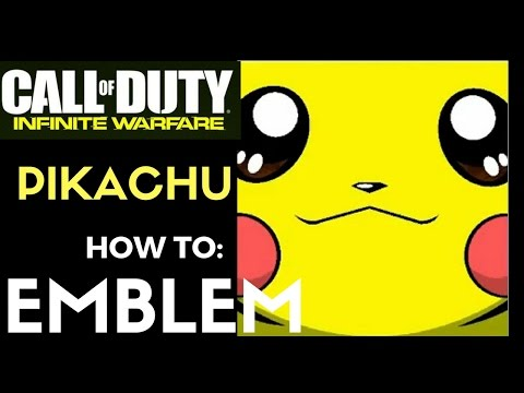 IW: HOW TO EMBLEM - CUTE PIKACHU FACE FROM POKEMON ON INFINITE WARFARE TUTORIAL