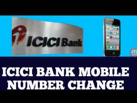 How to change / register mobile number in icici bank through atm.