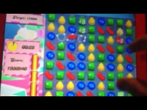 Candy crush level 252 (over 2000000 points)
