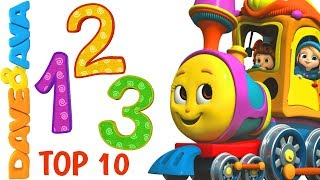 🍭 Learn Numbers and Counting 1 to 10   Nursery Rhymes Collection from Dave and Ava 🍭