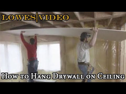 How to Hang Drywall on Ceiling by Yourself