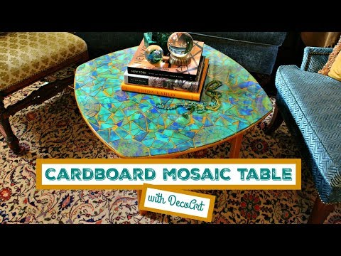 HOW TO: Cardboard Mosaic Table