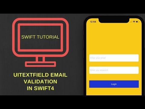 Email validation in swift 4 and empty UITextField Validation