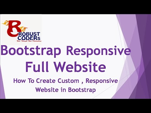 How To Create Responsive website in bootstrap (Hindi)|Best Template Design / web Design in Bootstrap