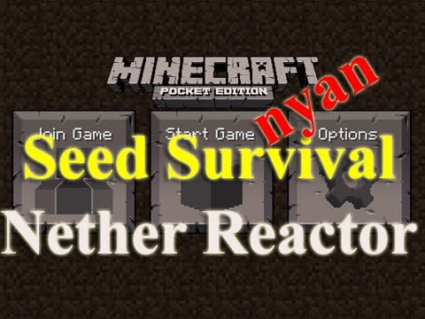 Minecraft PE Seed Survival - nyan - episode 3 - Stop, Nether Reactor Time