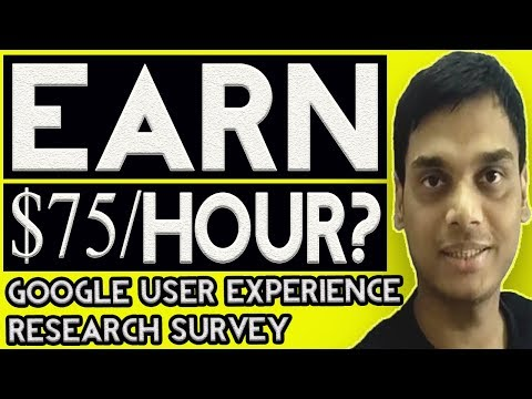 Earn $75 from google user experience research program/survey ?? Lets operate the truth | Hindi