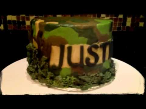 Army Camouflage Helicopter Cake   (Created with @Magisto)