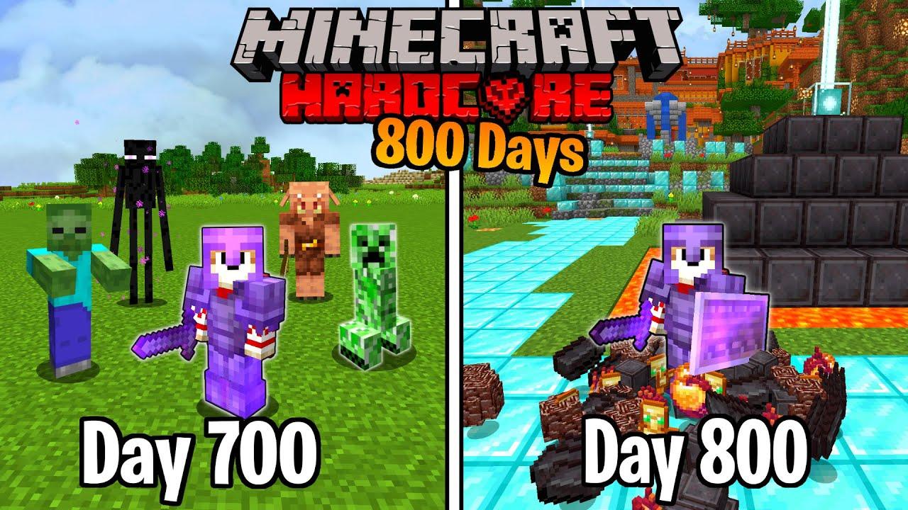 I Survived 800 Days in HARDCORE Minecraft