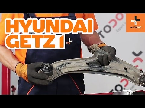 How to replace front arm bushes on Hyundai Getz 1   Tutorial HD