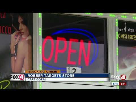 Robber targets smoke shop