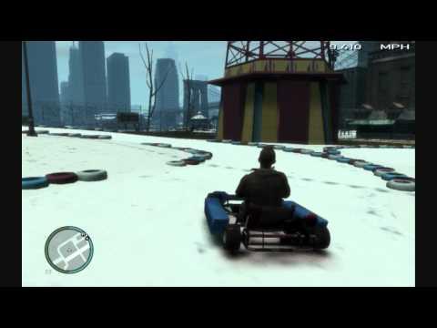 GTA 4 - Driving a Go Kart