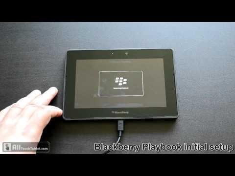 Blackberry Playbook initial setup walk-through video