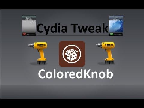ColoredKnob: Cydia Tweak Review ( Change knob color in lock screen )