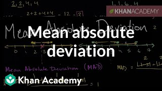 Mean Absolute Deviation Data And Statistics 6th Grade Khan Academy