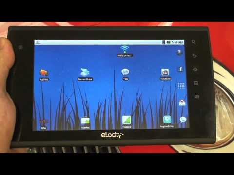 eLocity A7 Android Tablet with Google Marketplace and Ad-Hoc capability!