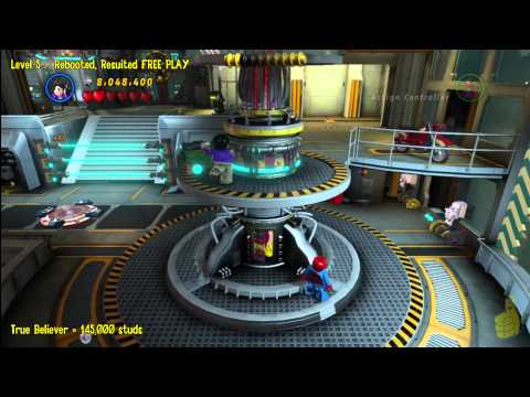 Lego Marvel Super Heroes: Level 5 Rebooted Resuited - FREE PLAY (All Minikits & Stan In Peril) - HTG