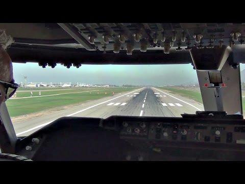 Take-Off Santiago de Chile - Boeing 747-400 Cockpit