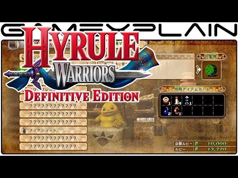 Hyrule Warriors: Definitive Edition - NEW Item Card Shop to Improve Adventure Mode & More Details