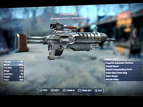 Fallout 4 Legendary Assault Rifles the 5.56 ammo Xbox 1 NO mods