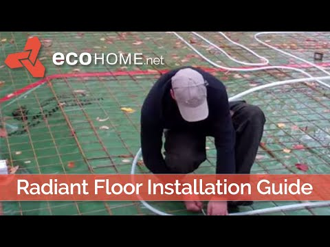 How to install radiant floor tubes