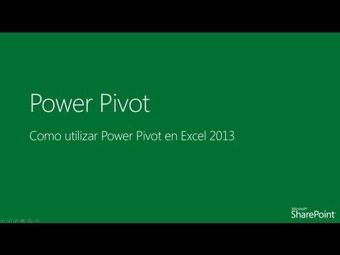 Como utilizar Power Pivot en Excel 2013