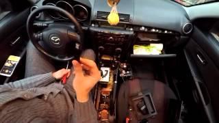 Установка Аудио Mp3 адаптера Yatour в Mazda 3 2006 г