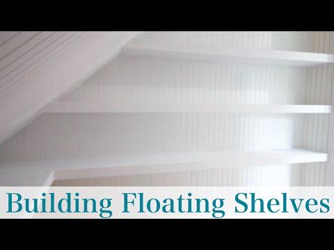 Building Floating Shelves- white painted storage shelf units