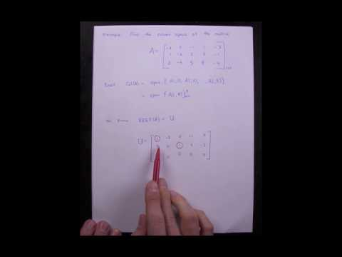 Lesson 19 Example Finding Column Space