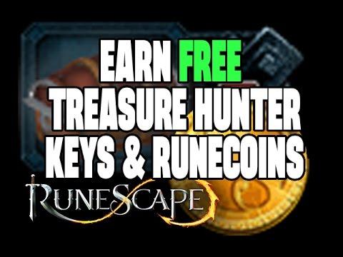 RuneScape - Earn Free Treasure Hunter Keys / Runecoins