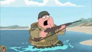Peter Storms the Beaches of Normandy - Family Guy