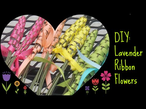 DIY: Lavender Ribbon Flowers! EASY AND AFFORDABLE!